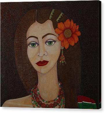 Gypsy With Green Eyes Canvas Print