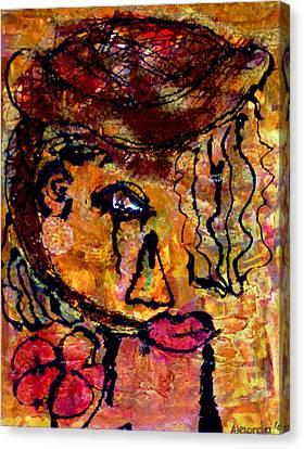 Gypsy Woman Canvas Print by Alexandra Jordankova