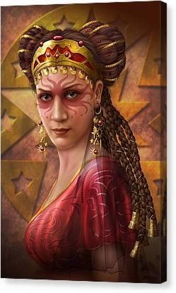 Gypsy Woman Canvas Print by Ciro Marchetti