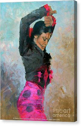 Gypsy Woman Dancing Canvas Print