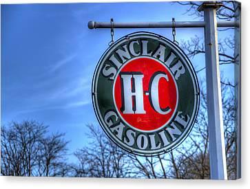 H-c Sinclair Gasoline Canvas Print by David Simons