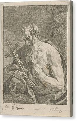 H. Jerome With A Crucifix, Francois Joseph Lonsing Canvas Print by Artokoloro