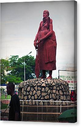 Edo Chief Statue Canvas Print