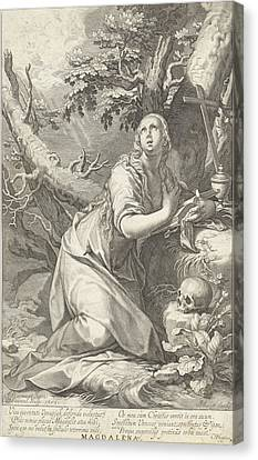 St Mary Magdalene Canvas Print - H Penitent Mary Magdalene by Willem Isaacsz. Van Swanenburg And Cornelis Gijsbertsz. Plemp And Jacques Razet