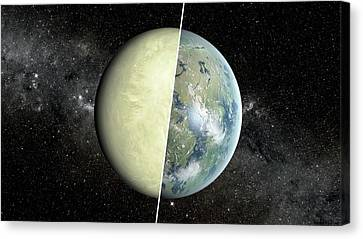 Goldilocks Canvas Print - Habitable Vs Non-habitable Zone Planet by Nasa/jpl-caltech/ames