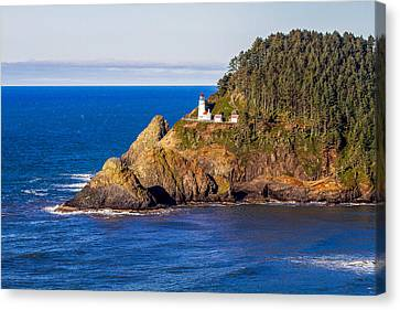 Canvas Print featuring the photograph Haceta Head Lighthouse by Dennis Bucklin