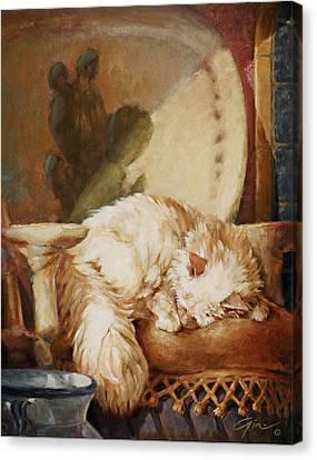 Hacienda Afternoons Canvas Print by Gini Heywood