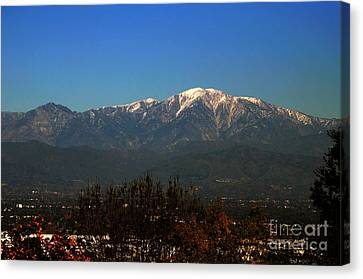 Canvas Print featuring the photograph Hacienda Heights And Industry Overlook by Clayton Bruster