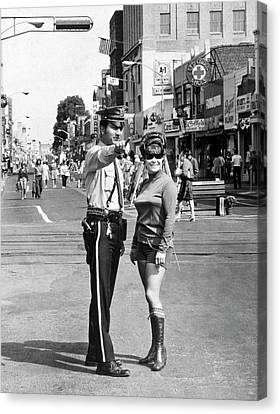 Police Officer Canvas Print - Hackensack Hot Pants by Underwood Archives