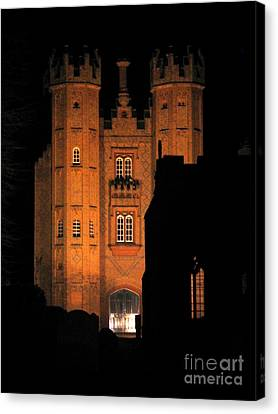 Canvas Print featuring the photograph Hadleigh Deanery By Night by Linda Prewer