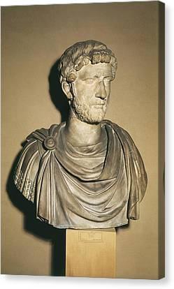 Hadrian 76-138. Roman Emperor 117-138 Canvas Print