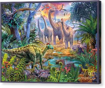 Dino Waterhole Canvas Print by Jan Patrik Krasny