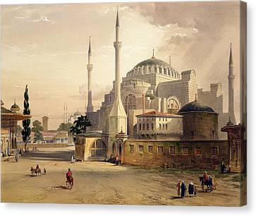 Haghia Sophia, Plate 17 Exterior View Canvas Print by Gaspard Fossati