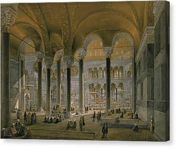 Haghia Sophia, Plate 6 The North Nave Canvas Print by Gaspard Fossati