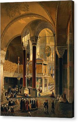 Haghia Sophia, Plate 8 The Imperial Canvas Print by Gaspard Fossati