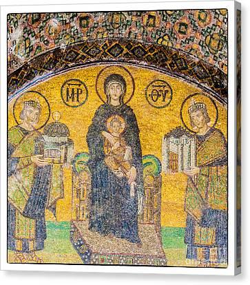 Hagia Sofia Mosaic 03 Canvas Print by Antony McAulay