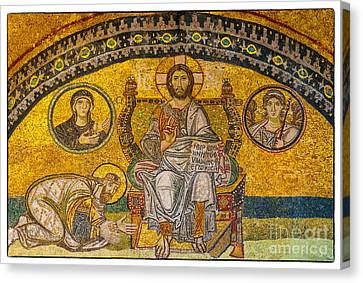 Hagia Sofia Mosaic 04 Canvas Print by Antony McAulay