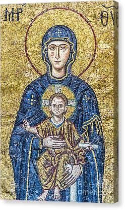 Hagia Sofia Mosaic 05 Canvas Print by Antony McAulay