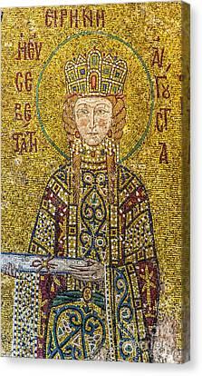 Hagia Sofia Mosaic 06 Canvas Print by Antony McAulay