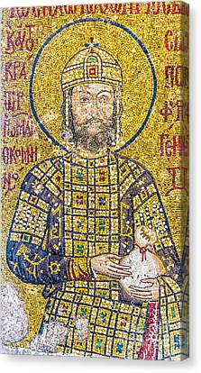 Hagia Sofia Mosaic 07 Canvas Print by Antony McAulay