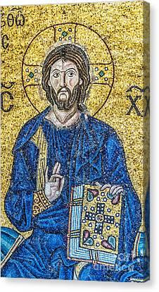Hagia Sofia Mosaic 08 Canvas Print by Antony McAulay