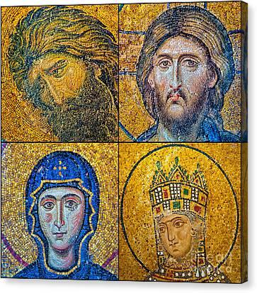 Hagia Sofia Mosaics Canvas Print by Antony McAulay