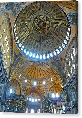 Canvas Print featuring the photograph Hagia Sophia 1 - Istanbul by Cheryl Del Toro