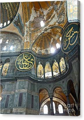 Canvas Print featuring the photograph Hagia Sophia 3 - Istanbul by Cheryl Del Toro