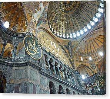 Canvas Print featuring the photograph Hagia Sophia 4 - Istanbul by Cheryl Del Toro