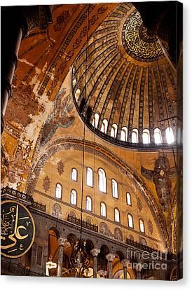 Hagia Sophia Dome 03 Canvas Print by Rick Piper Photography