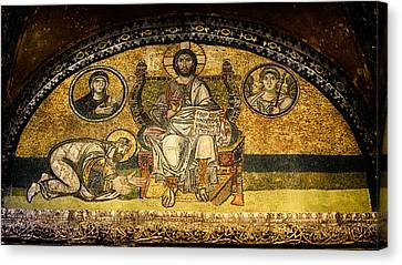 Greek Icon Canvas Print - Hagia Sophia Imperial Gate Mosaic by Stephen Stookey
