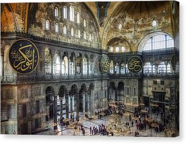 Christian Canvas Print - Hagia Sophia Interior by Joan Carroll