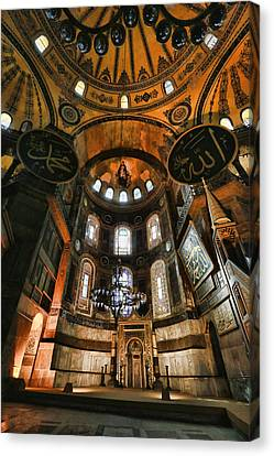 Hagia Sophia Interior Canvas Print by Stephen Stookey