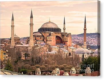 Hagia Sophia Mosque - Istanbul Canvas Print by Luciano Mortula