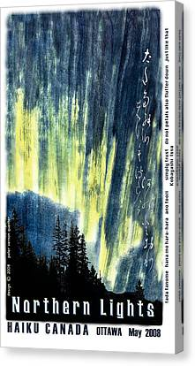 Canvas Print featuring the photograph Haiga Poster Haiku Canada Conference  by Peter v Quenter