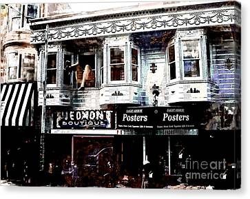 Haight And Ashbury Canvas Print by Barbara D Richards