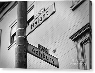 Haight And Ashbury Canvas Print by Jerry Fornarotto
