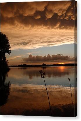 Hail Sunset Canvas Print by James Peterson