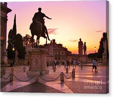 Hail To All The Little Tourists Canvas Print by John Malone