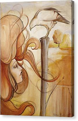 Hair And Thhawke  Canvas Print