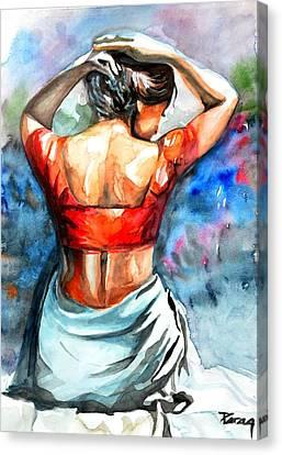 Hair Dressing Canvas Print