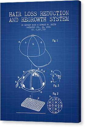 Hair Loss Reduction And Regrowth System Patent - Blueprint Canvas Print by Aged Pixel