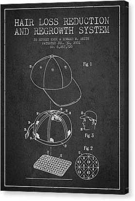 Hair Loss Reduction And Regrowth System Patent - Charcoal Canvas Print by Aged Pixel