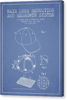 Hair Loss Reduction And Regrowth System Patent - Light Blue Canvas Print by Aged Pixel