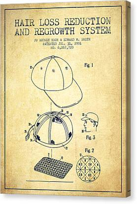 Hair Loss Reduction And Regrowth System Patent - Vintage Canvas Print by Aged Pixel