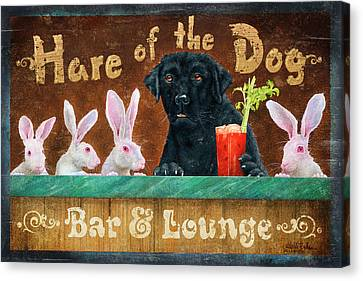 Hair Of The Dog Canvas Print by JQ Licensing