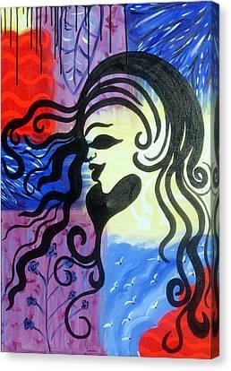 Hair Silhouette Canvas Print by Lorinda Fore