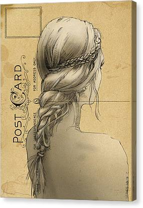 Hair Study Canvas Print by H James Hoff