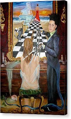 Hair Stylist  Canvas Print by Yana Ashim