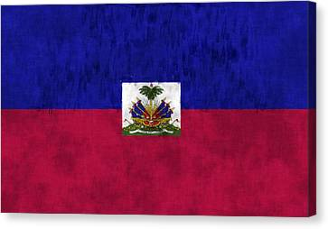 Haiti Flag Canvas Print by World Art Prints And Designs